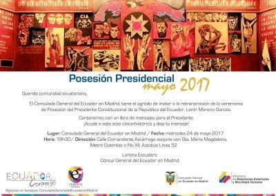 Posesión del Presidente Constitucional de la Republica Del Ecuador el Sr. Lenin Moreno