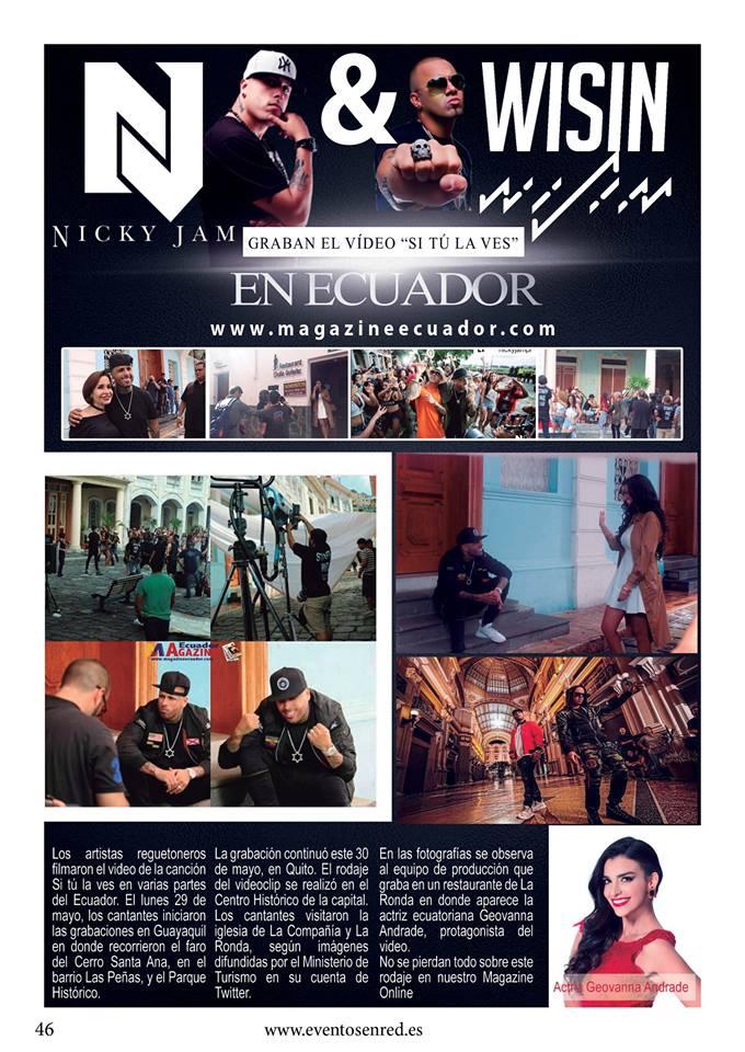"""PAISAJES DEL ECUADOR PROTAGONIZAN EL VIDEOCLIP """"SI TU LA VES"""" DE LOS REGGATEONEROS NICKY JAM Y WISIN"""
