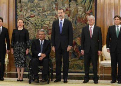El presidente de Ecuador Lenín Moreno se reunió  con Felipe VI y Mariano Rajoy  Presidente de España