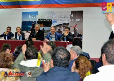 El Presidente de Ecuador Sr. Lenín Moreno compartió la Jornada de puertas abiertas por el Día Internacional del Migrante en Madrid