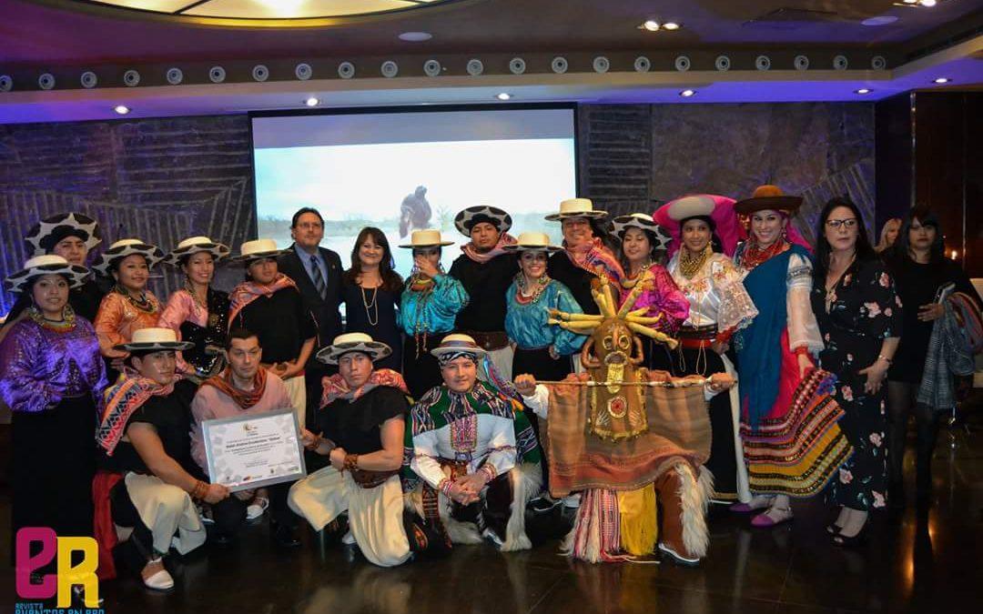 """Ballet Quitus conformado por ecuatorianos en Madrid es nombrado """"Embajador Turístico""""."""