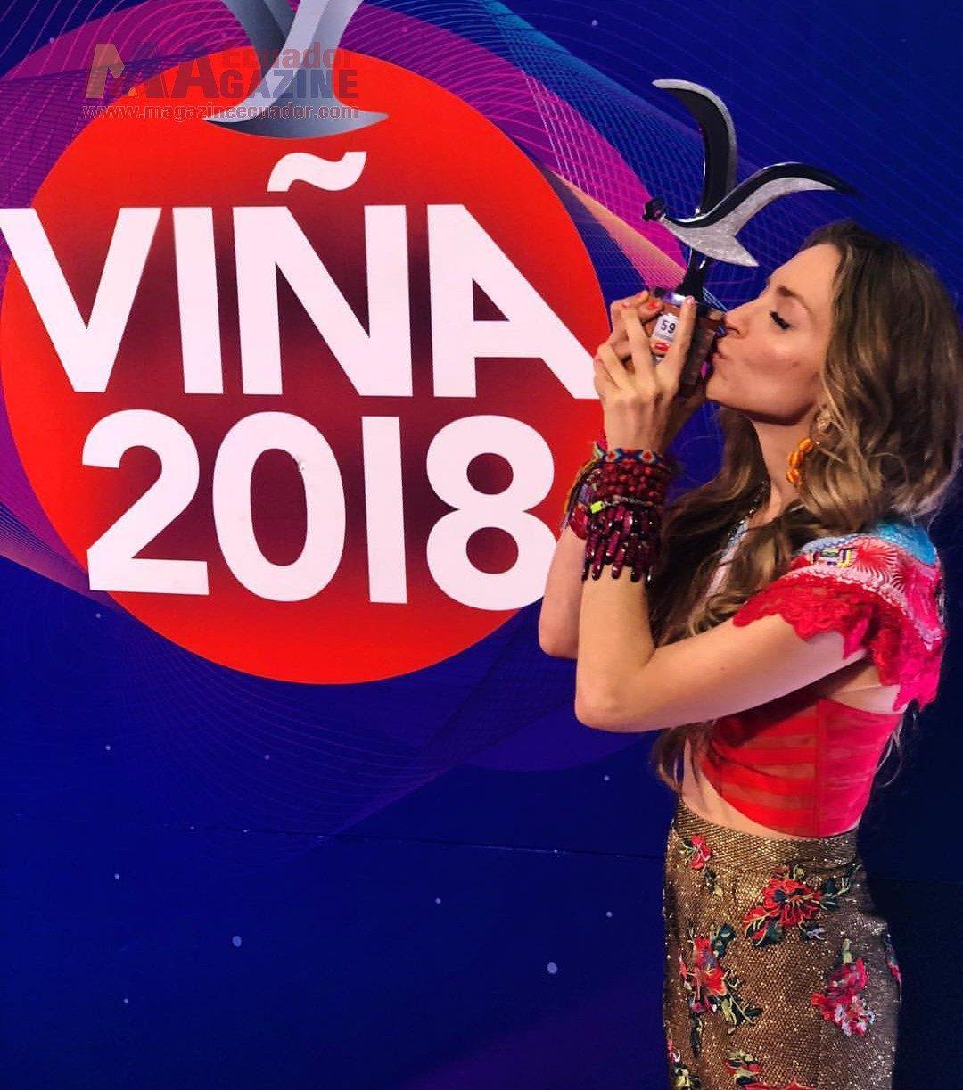 Mirella Cesa es la Mejor Intérprete Internacional de Viña 2018; ganó la primera Gaviota de Plata para Ecuador