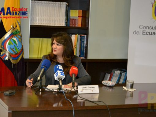 Rueda de Prensa realizada por la Cónsul General del Ecuador en Madrid Lorena Escudero.