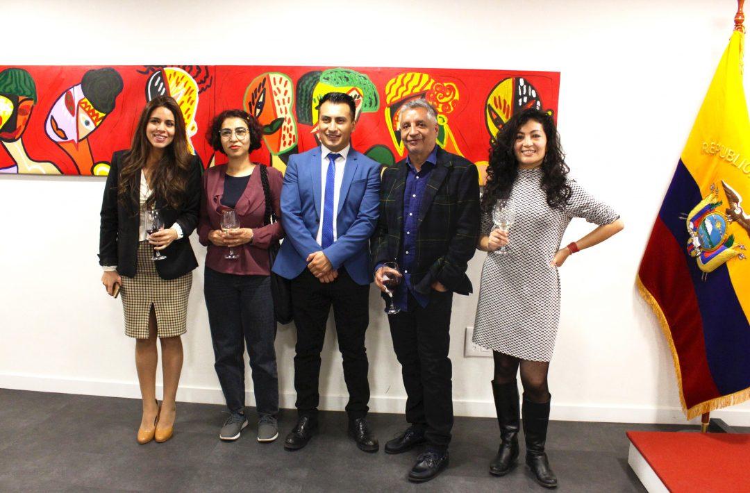 En la capital española se inauguró la muestra del pintor ecuatoriano las Mestizas Blancas
