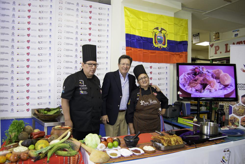 """Festival Celebremos Iberoamérica, donde Ecuador """"País de los 4 Mundos"""" potencia su gastronomía."""