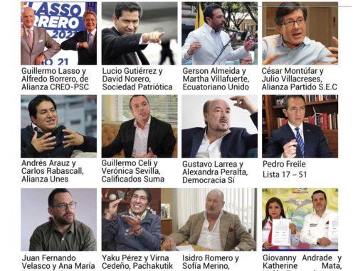 ¿Cómo recuperará el dinero público que se llevó la corrupción? Los 16 candidatos presidenciales de Ecuador,  esto es lo que responden