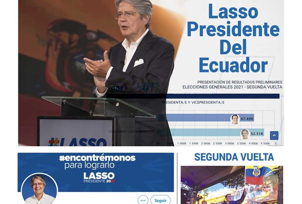 Guillermo Lasso gana las elecciones electorales en Ecuador