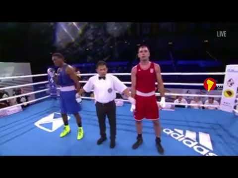 Pugilista ecuatoriano Mina derrota al croata Damir Plantic y avanza en el Mundial de Boxeo de Alemania